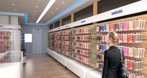 עיצוב חנות סלולר